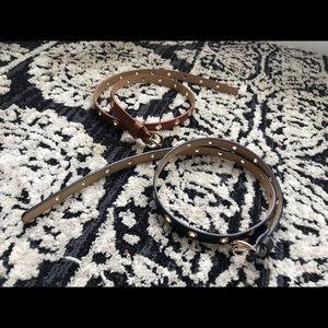 H&M Black Cognac Belts 💞